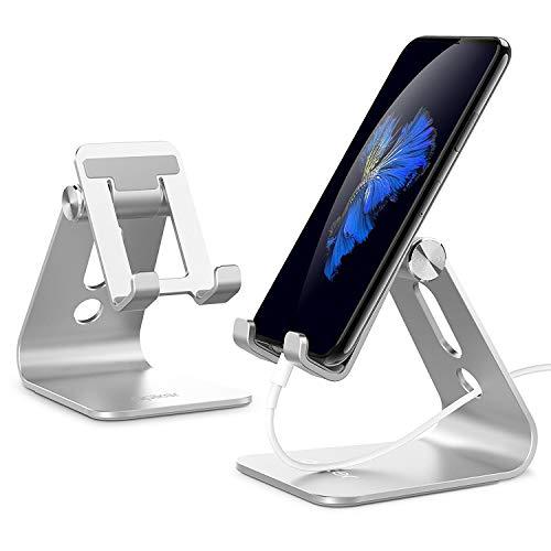 apiker Supporto Telefono, Dock Telefono: Universale Supporto Dock per iPhone 6 6S 7 8 7Plus 8Plus, XS XS Max XR X Altri Smartphone - Argento
