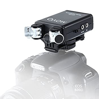 Movo/Sevenoak Camera Mount Condenser Stereo Video Microphone with 90°-120° Adjustable Directional Mic Capsules