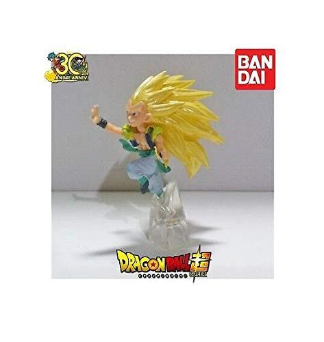 Bandai Oficial Dragonball Z Minifigura 6 cm GOTENKS Super Saiyan 3 SSJ3 GASHAPON Anime Manga
