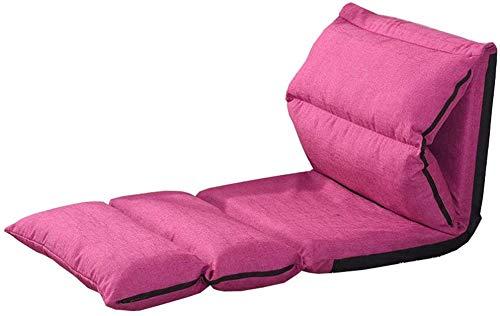 Klappbarer Schlafsessel Kleines Sofa 5-Fach verstellbar Klappbar Leicht zu entfernen und zu waschen Bequemer und atmungsaktiver Schlafsessel für Schlafzimmer (Farbe: Rosarot)