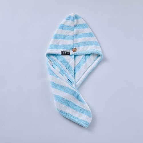 IAMZHL Asciugamani da Bagno Asciugamano in Microfibra Asciugamano per Capelli Asciugamano per Capelli Asciugamani da Bagno per Adulti Toallas Microfibra toalha de banho-Blue Stripe-25x65cm
