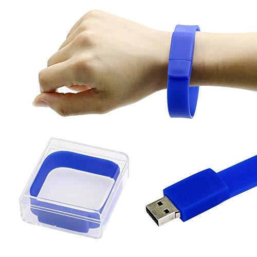Braccialetto blu da polso USB Flash Memory Drive 8GB Pendrive di Civetman