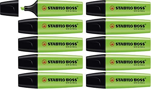 Evidenziatore - STABILO BOSS ORIGINAL - Confezione da 10 - Verde