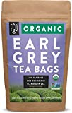 Organic Earl Grey Black Tea Bags | 100 Tea Bags | Chinese Keemun, Indian Assam & Italian Bergamot Blend | Eco-Conscious Tea Bags in Kraft Bag | by FGO