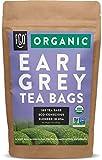 Organic Earl Grey Black Tea Bags | 100 Tea Bags | Chinese Keemun, Indian Assam & Italian Bergamot Blend | Eco-Conscious Tea Bags in Kraft Bag | by FGO