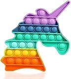Fornest Pop it Fidget Toys Pack, fidjetoys Toy Anti Stress, popit Jeux Pas Cher, Multicolore popite fijets Toys entistesses Objet satisfaisant, poppit figette Set, Anti Stress (Licorne)