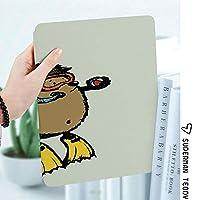 軽量版IPad ケース iPad2 ケース iPad3 ケース iPad4 ケース スタンド機能 レザー(PU) オートスリープ 傷つけ防止 2つ折タイプ iPad2/3/4世代専用スマートカバー子供のための漫画スキューバダイバーハリネズミハリネズミかわいいイラストFunny Sea Life