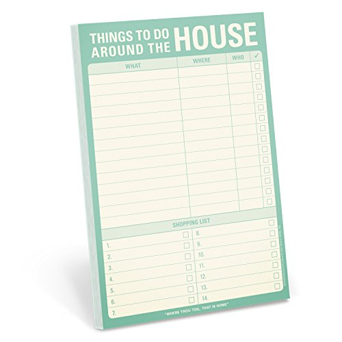 Knock Knock Things To Do Around the House Pad, Honey-Do List Notepad, 6 x 9-inches