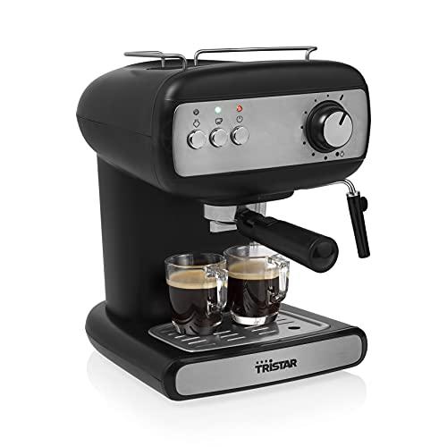 Ekspres do kawy Tristar CM-2276 – możliwość używania mielonej kawy oraz kapsułek Nespresso® - pompa ciśnieniowa 20 bar – zbiornik na wodę 1.2L