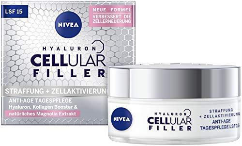 NIVEA Hyaluron Cellular Filler Anti-Age Tagespflege LSF 15 (50 ml), straffende Gesichtspflege mit...