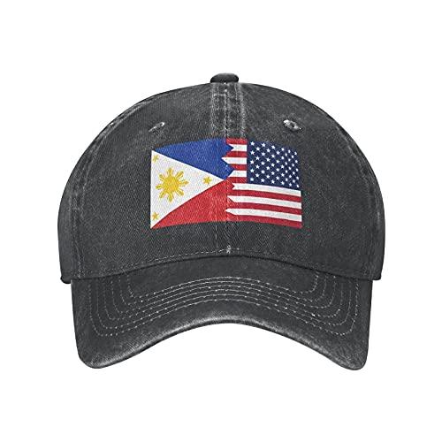 N \ A Gorra de béisbol ajustable con la bandera americana y las Filipinas para hombre y mujer