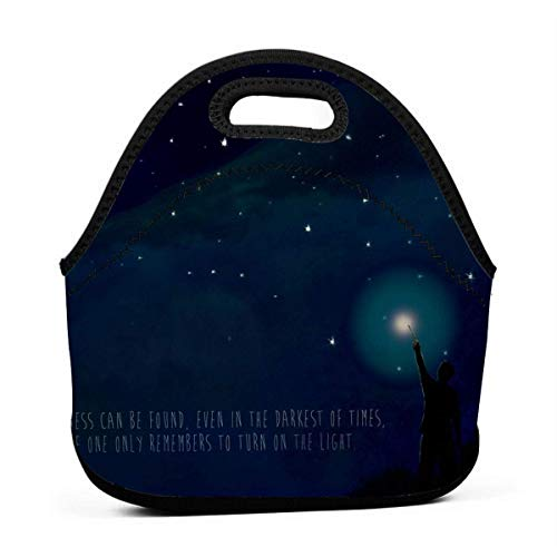 XCNGG Lumos Men Women Kids Insulated Lunch Bag Tote Reusable Lunch Box for Work Picnic School