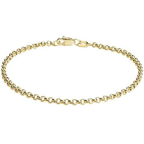 Erbsarmband Rolo link 14 Karat / 585 Gelbgold Breite 2.70 mm (21)