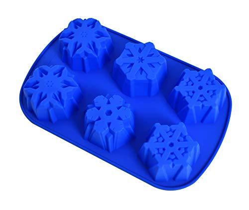 JasCherry Moldes de Silicona Navideño Bricolaje, 3D en Forma de Copo de...