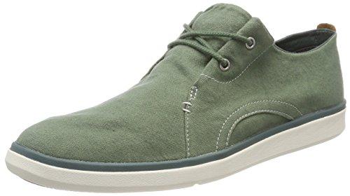 Timberland Gateway Pier Casual, Zapatos de Cordones Oxford Hombre, Verde Medium Green Canvas, 41.5 EU