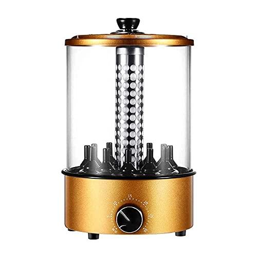 Horno asador de asador Vertical de 1100 W, Parrilla de Barbacoa giratoria automática sin Humo de 360 °, máquina de Pinchos de Barbacoa pequeña sin Humo, Control de Temperatura de sincronización, pa