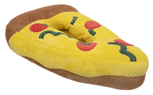 FEETMOJI Kids Slippers,Pizza Novelty Slippers,Pizza Party Slippers,Kids Youth 1-2