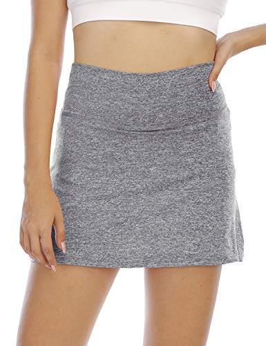 Golf Skorts for Women,Cucuchy Casual Athletic Skirts Tennis Pencil Mini Short Skorts with Pockets Petite Workout Clothes Running Cute Active Performance Gym Sport Sweat Shorts Grey Small