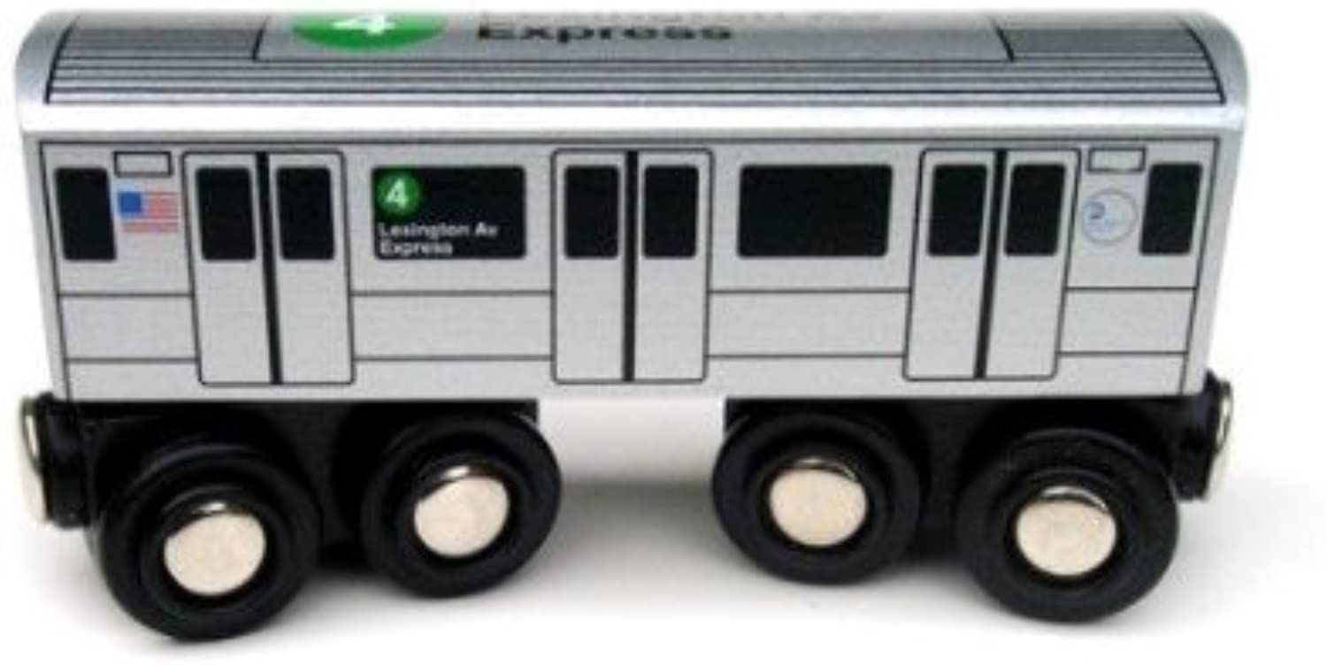 comprar marca Munipals NYC Subway Subway Subway 4 Coche Juguete Train Wooden Railway Compatible by Munipals  Compra calidad 100% autentica