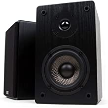 Micca MB42 Bookshelf Speakers for Home Theater Surround Sound, Stereo, and Passive Near Field Monitor, 2-Way (Black, Pair)
