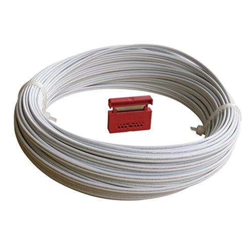 Homefibre RHEE 4002 W-20CUT Gigabit Netzwerk-Kabel POF (Polymer Optisches Kabel) 20m Bund RHEE 4002 2,2W-20m mit Cutter.