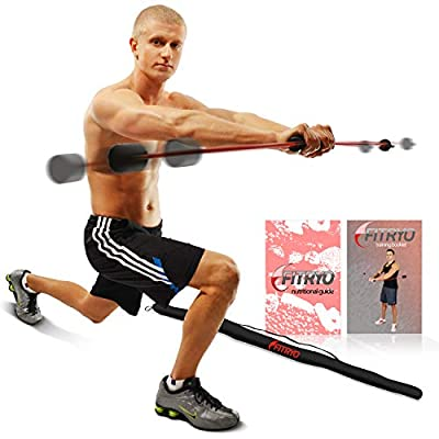 Fitryo Total Bar - Home Workout & Physical Therapy Exercise Stick - Shoulder Rehab & Rotator Cuff Treatment Equipment