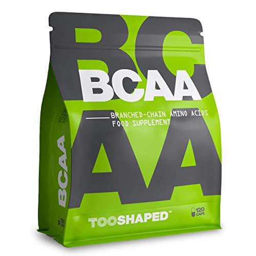 BCAA Kapseln 8:1:1 – Verzweigtkettige Aminosäuren für Muskelaufbau und Regeneration nach dem Sport – 120 vegane Kapseln von TOOSHAPED