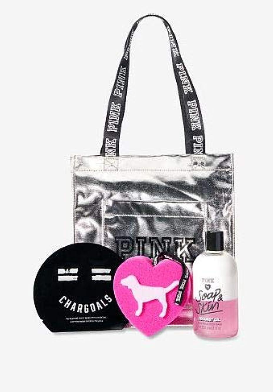副産物インフルエンザ真実VICTORIA'S SECRET Beauty Tote Bag ボディウッシュ スポンジ フェイスパック バッグの4点セット
