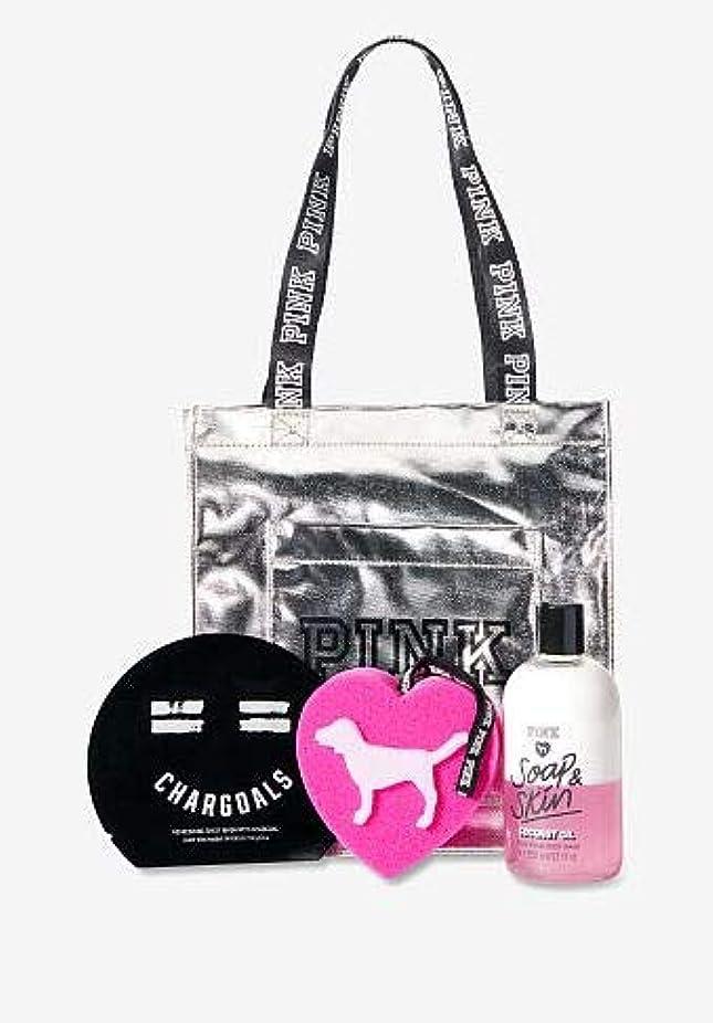 維持実証する幻影VICTORIA'S SECRET Beauty Tote Bag ボディウッシュ スポンジ フェイスパック バッグの4点セット
