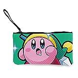 Kirby Legend Zelda - Monedero de lona para mujer con cierre para tarjetas de embrague