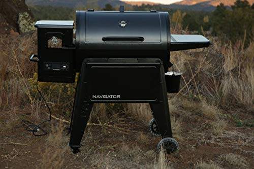 Pit Boss Navigator 850 - Barbecue a pellet, nero, in acciaio, 147 x 94 x 119 cm, con display digitale