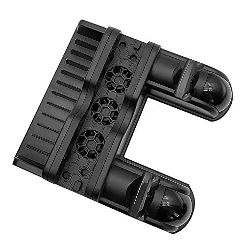 Qalabka Cargador multifuncional para consola de juegos, estación de carga con 3 ventiladores, cargador para gamepad, 3 puertos USB, compatible con PS4/Slim/Pro