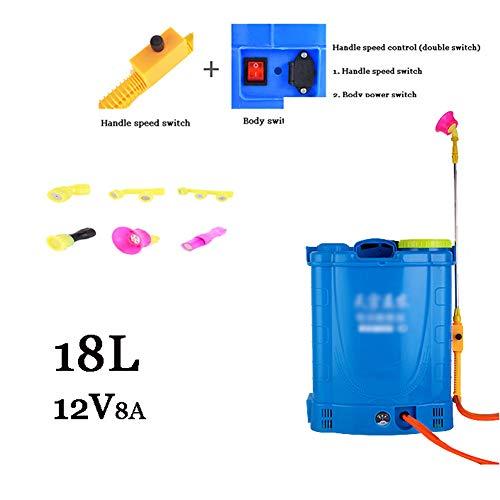 JTYDFG Pulverizador de Mochila, fumigador de jardín Pesticidas eléctricos 16L / 18L...