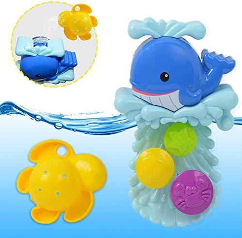 Juguetes de baño, juguete de spray de agua, juguetes de la piscina de diversión, juguete para bebés, piscina Juegos de baños de juguete de juguete de agua de juguete de dolphin Bathtub Toys Flower Wat