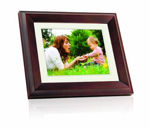 GiiNii GH-8DNP 8-Inch All-in-One Digital Picture Frame (Brown)
