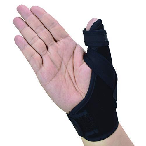 Thumb Spica Splint- Soporte de pulgar para artritis o lesiones de tejidos blandos, liviano y transpirable, estabilizador y no restrictivo, un producto sólido de EE. UU. (Grande)