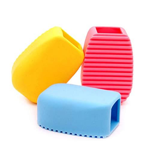 ZOOMY Reinigungsbürste Flexible Peeling-Silikonbürste Mini-Waschbrett Anti-Rutsch-Farbe Nach dem Zufallsprinzip