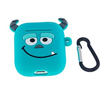 Cute AirPods Case ifctn Shockproof Protective 3D Silicone Cartoon Monster Airpods Case Cover Compatible with Apple Airpods Charging Case Cover 1&2  Binocular