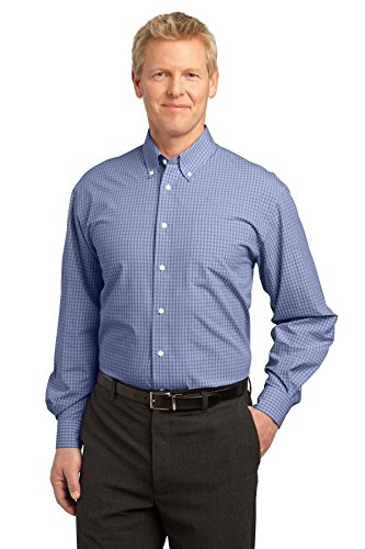 Port Authority® Plaid Pattern Easy Care Shirt. S639 Navy L