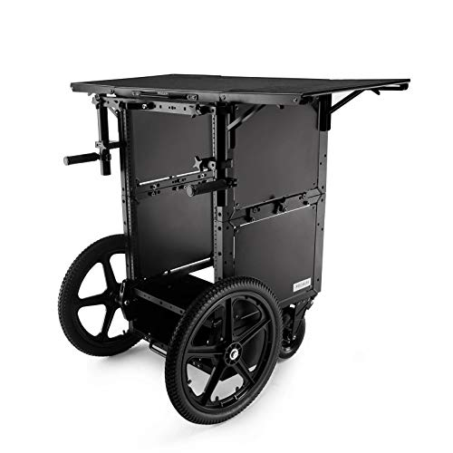 PROAIM Soundchief Cart | Vertical Workstation Audio Production Cart with Rack Mounting Options for Film/Video/TV/Studio/Stage | Aluminum Truck for Sound Recordists | Payload 100kg/220lb (CT-SDCF-01)