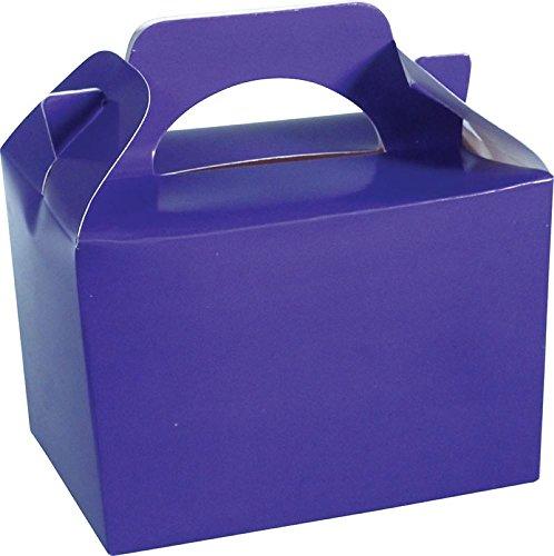 Concept4u Scatola per giocattoli o alimenti, da regalo, per bambini, colore: viola, confezione da 10 pezzi