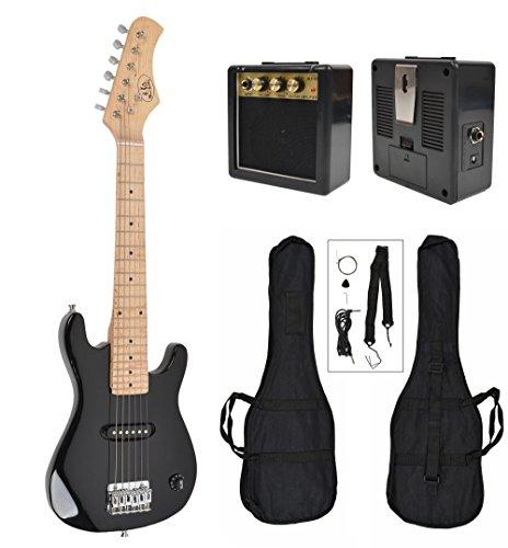 ts-ideen - Guitarra eléctrica sunburst infantil de 1/4 (4-8 anos, altavoz, amplificador, funda y cuerdas)