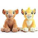 cgzlnl 2Pcs/Set The Lion King Plush Toys 26cm, Simba Nala Cute Soft Animals Lion Stuffed Dolls, For Children Birthday Gifts Christmas Gifts