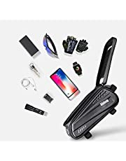 """Obbug Bike Phone Front Frame Bag Bicycle Bag Waterproof Bike Phone Mount Top Tube Bag Bike Phone Case Holder Accessories Cycling Pouch Compatible with iPhone 11 XS Max XR Fit 6.5"""""""
