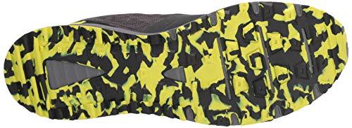 New Balance Men's Nitrel V3 Trail Running Shoe, Black/Yellow, 11 D US 7