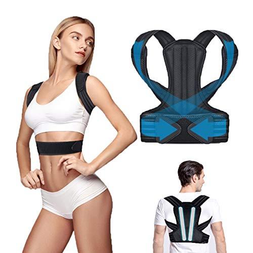 iThrough Corrector Postura Espalda, Corrector de Postura Espalda y Hombro para Hombre y Mujer, Faja Espalda Recta Soporte Talla Asjustable Transpirable