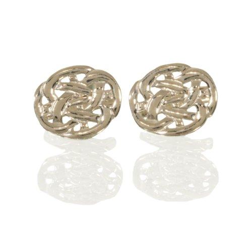 Manschettenknöpfe Keltischer Knoten Silber massiv