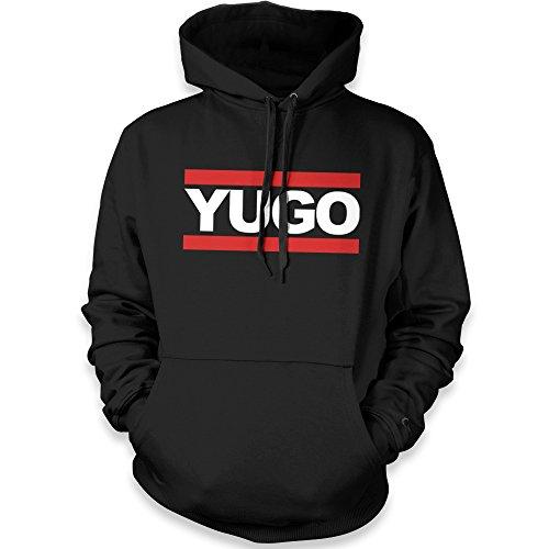 net-shirts Balkan Apparel - YUGO Run Hoodie, Größe XXL, schwarz