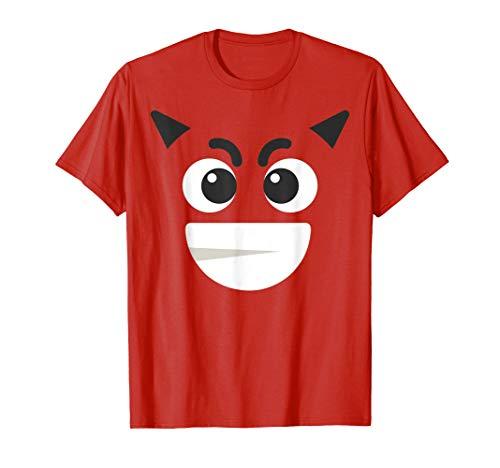 Devil Face Emoji - Evil Red Horns Bad Baddie Villain Couples T-Shirt