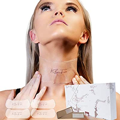 Neck lift anti wrinkle patches 4PACK | Neck Wrinkle Pads with OPTIONAL Strap I Silicone Neck Mask | Reusable Anti Aging silicone Mask | Anti Wrinkles Prevention Patch Neck Lines Treatment from Cradle Plus